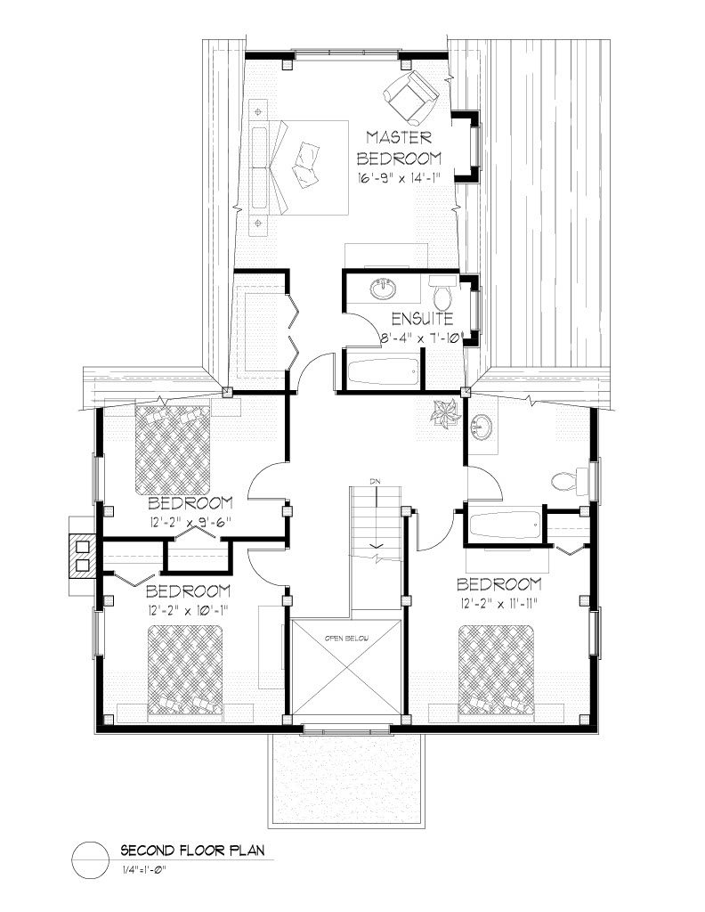 Normerica Timber Frames, House Plan, The Niagara 3539, Second Floor Layout