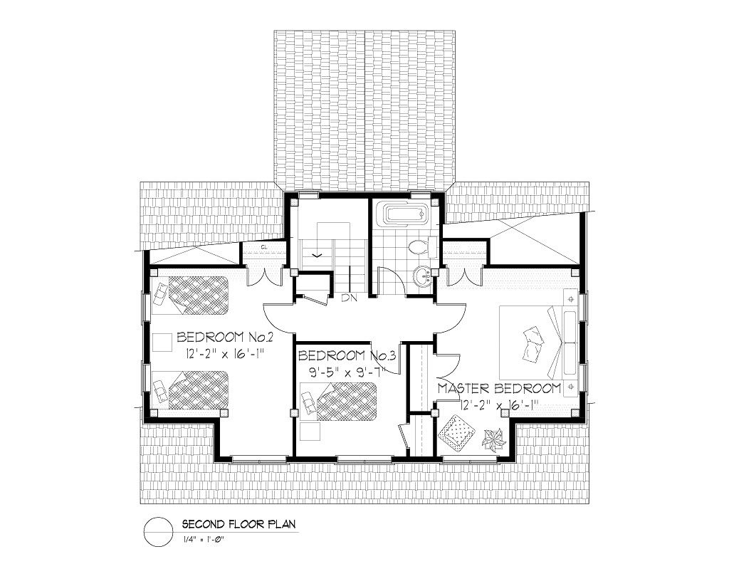 Normerica Timber Frames, House Plan, The Routt 3419, Second Floor Layout