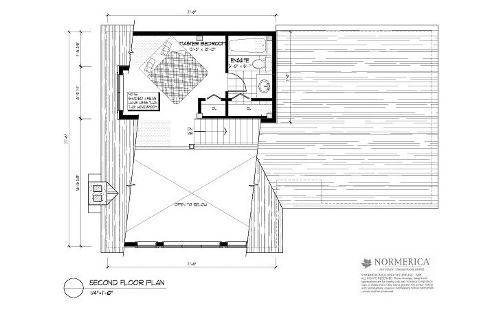 Normerica Timber Frames, House Plan, The Simcoe 3239, Second Floor Layout