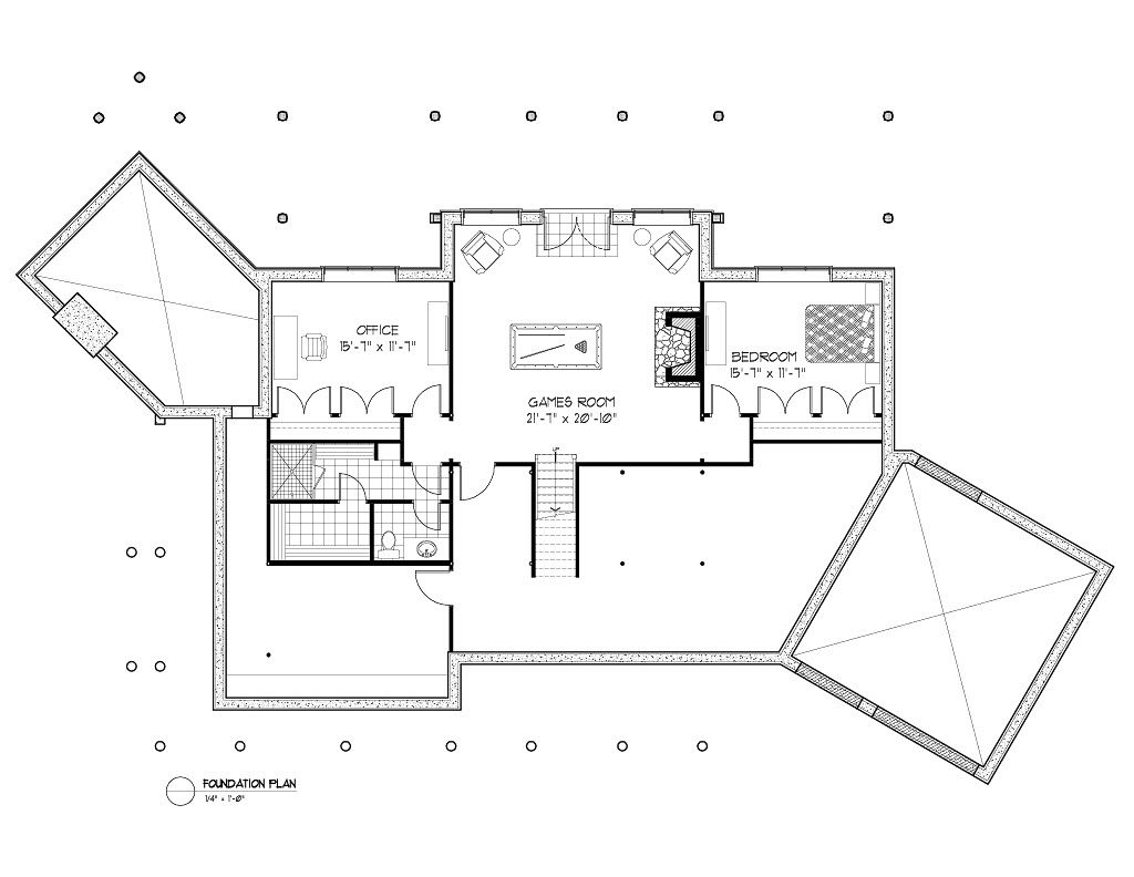 Normerica Timber Frame, House Plan, The Kearns 3510, Basement Layout