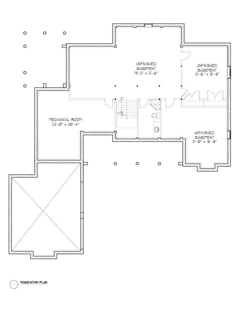 Normerica Timber Frames, House Plan, The Dufferin 2822, Basement Layout