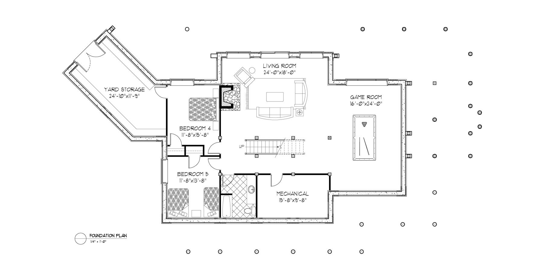 Normerica Timber Frames, House Plan, The Fremont 3582, Basement Layout