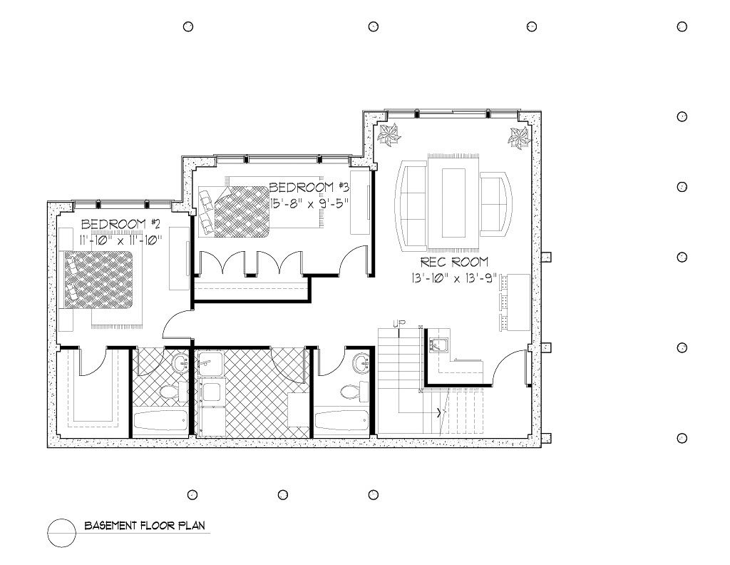 Normerica Timber Frames, House Plan, The Kershaw 3808, Basement Layout