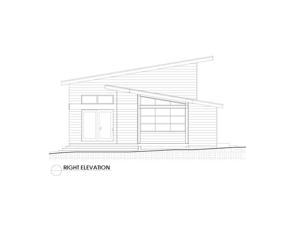 Normerica Timber Frames, House Plan, The Killarney 2134, Right Elevation