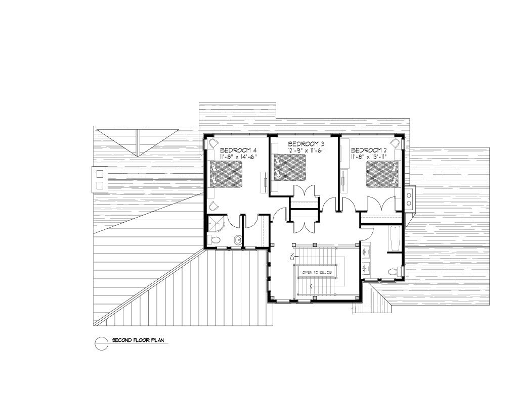Normerica Timber Frames, House Plan, The Rosseau 3829, Second Floor Layout