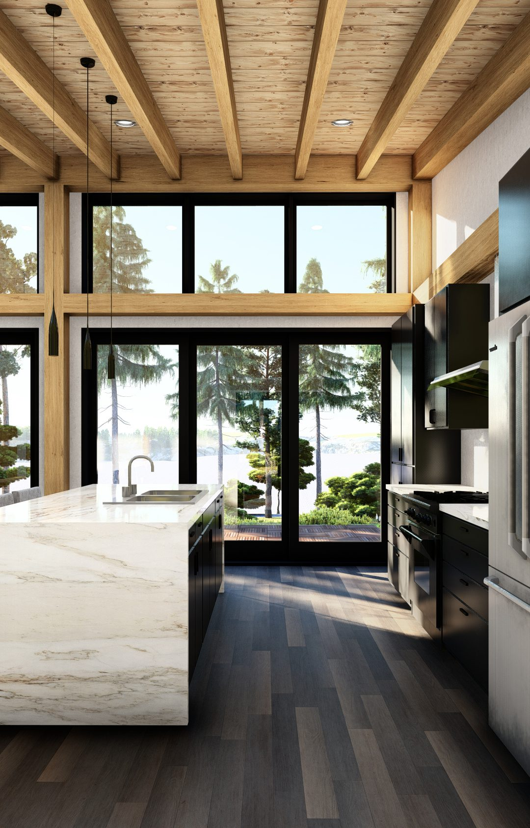 Normerica Timber Frames, House Plan, The Bayfield 3945, Interior, Kitchen