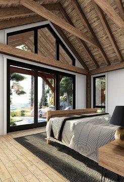 Normerica Timber Frames, House Plan, The Britt 3954, Interior, Master Bedroom