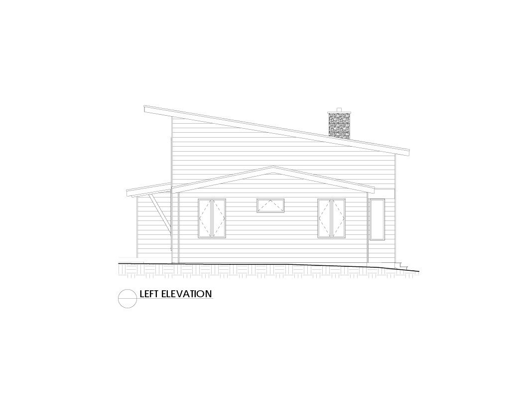 Normerica Timber Frames, House Plan, The Killarney 2134, Left Elevation