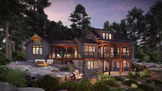 Timber Frame Houses Plans | The Ranger 3575 | Normerica