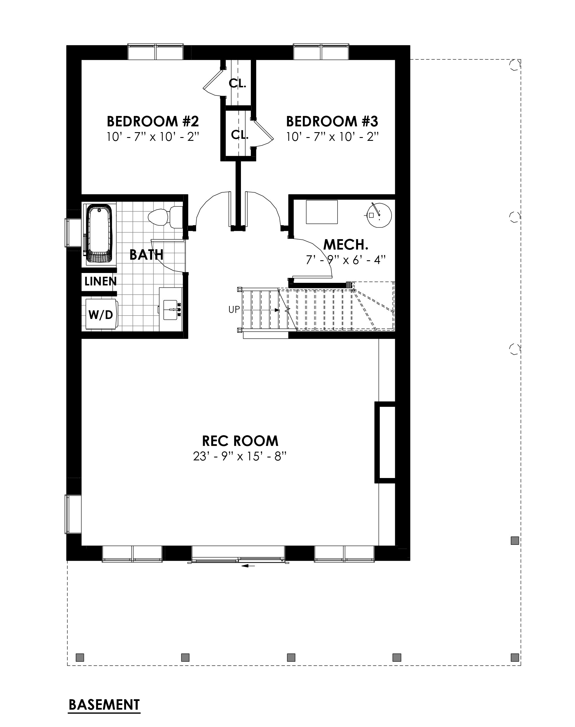 Timber Frame Open Concept House Plans   The Rouge   Normerica   Floor Plans, Basement