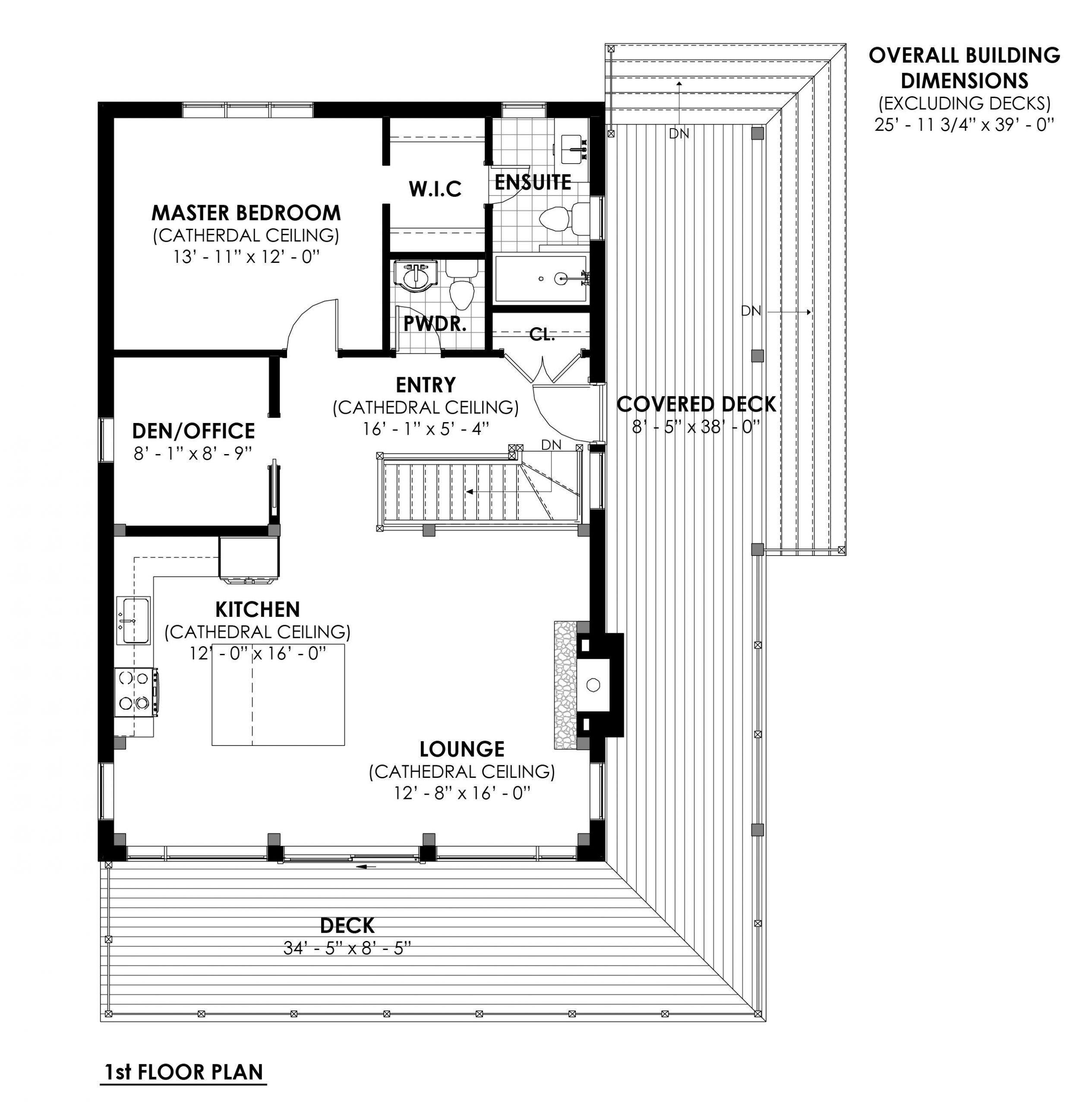 Timber Frame Open Concept House Plans   The Rouge   Normerica   Floor Plans, First Floor, Option 1