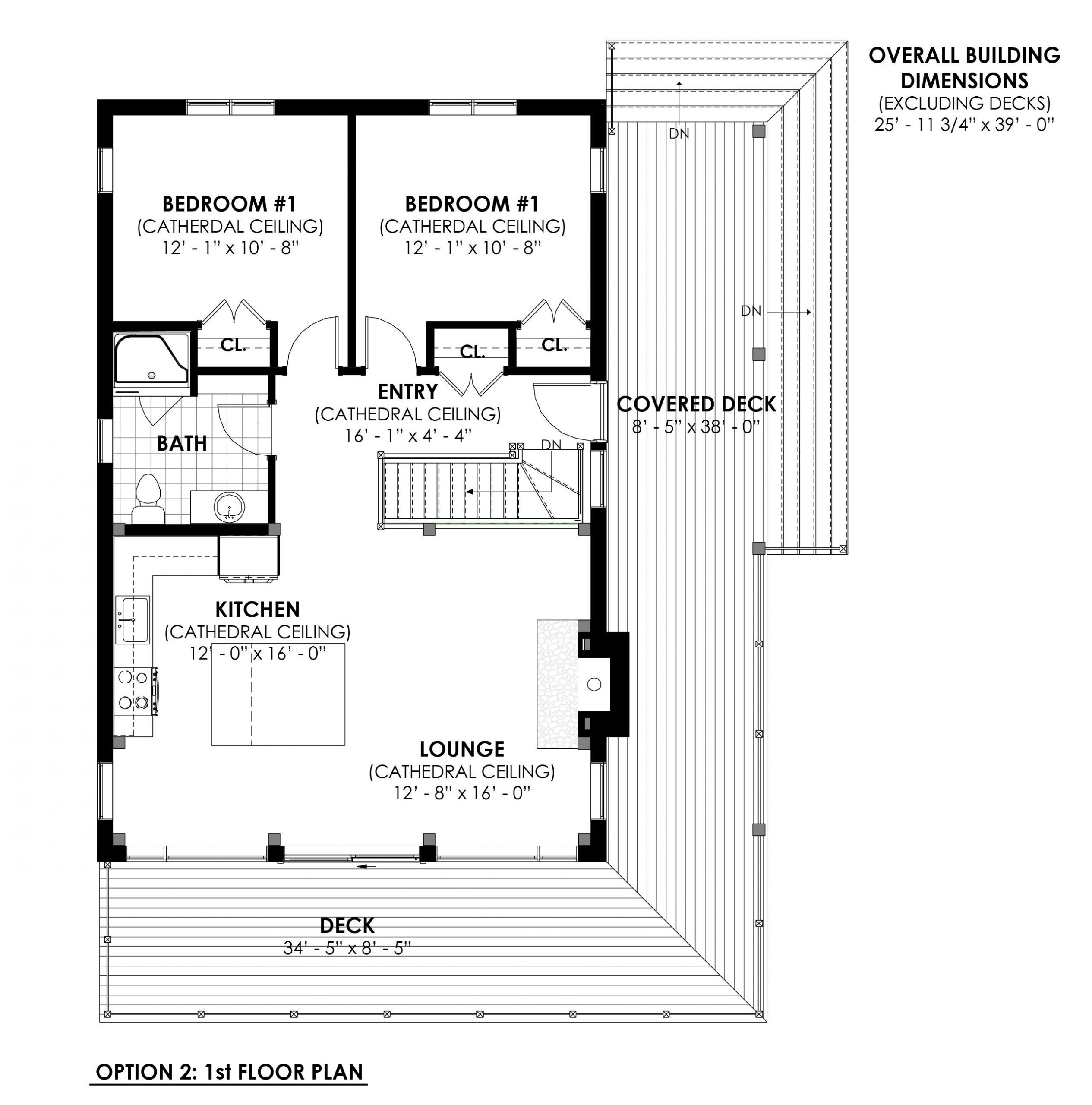 Timber Frame Open Concept House Plans   The Rouge   Normerica   Floor Plans, First Floor, Option 2