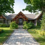 Normerica-Timber-Homes-Timber-Frame-Portfolio-Entry-Exterior-Porch-Front