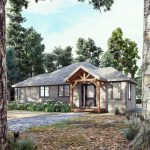 Normerica Timber Homes, Timber Frame, House Plans, The Herridge 3979, Exterior, Front