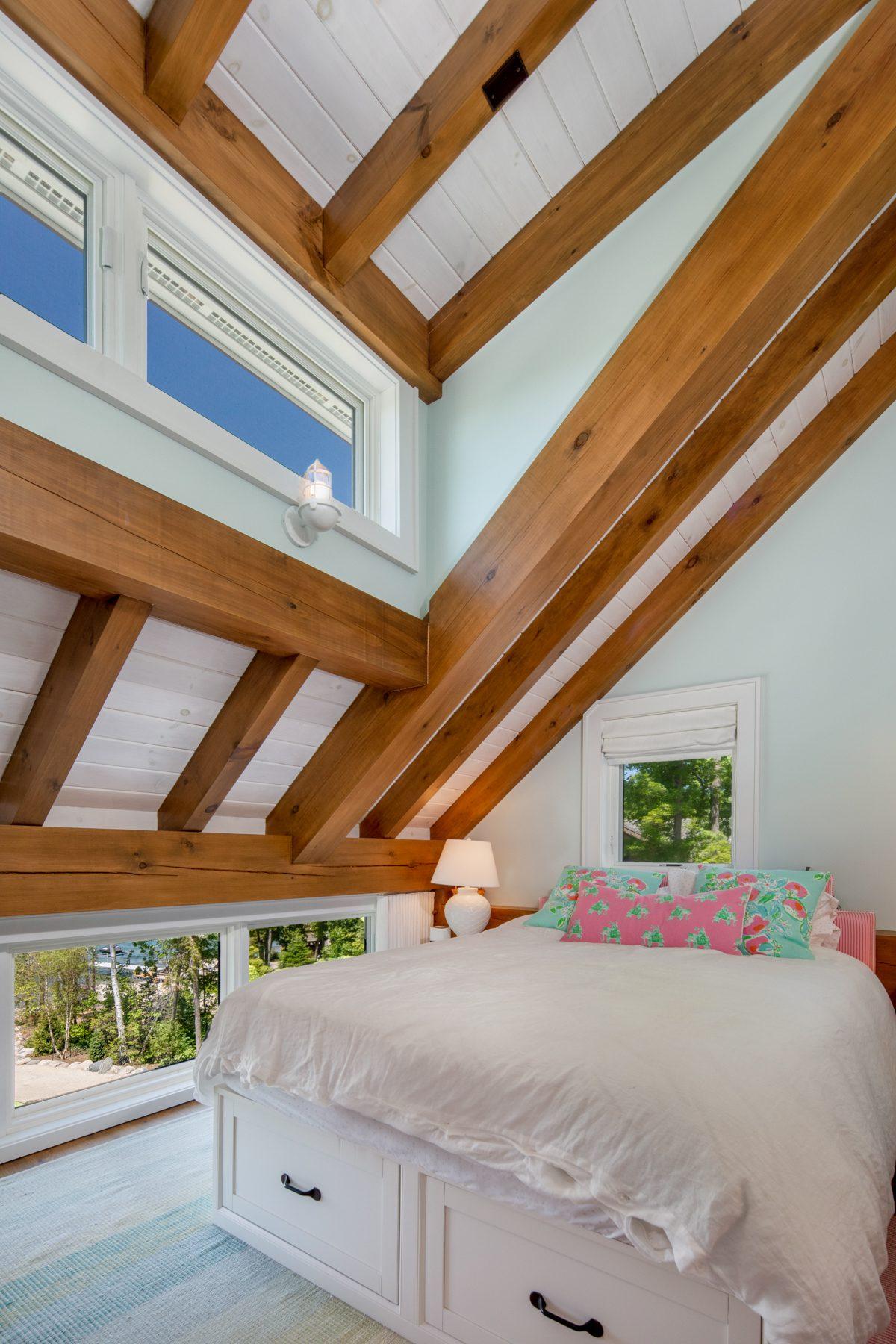 Normerica-Timber-Homes-Timber-Frame-Portfolio-Beachside-Bliss-Interior-Girl-Bedroom-Loft