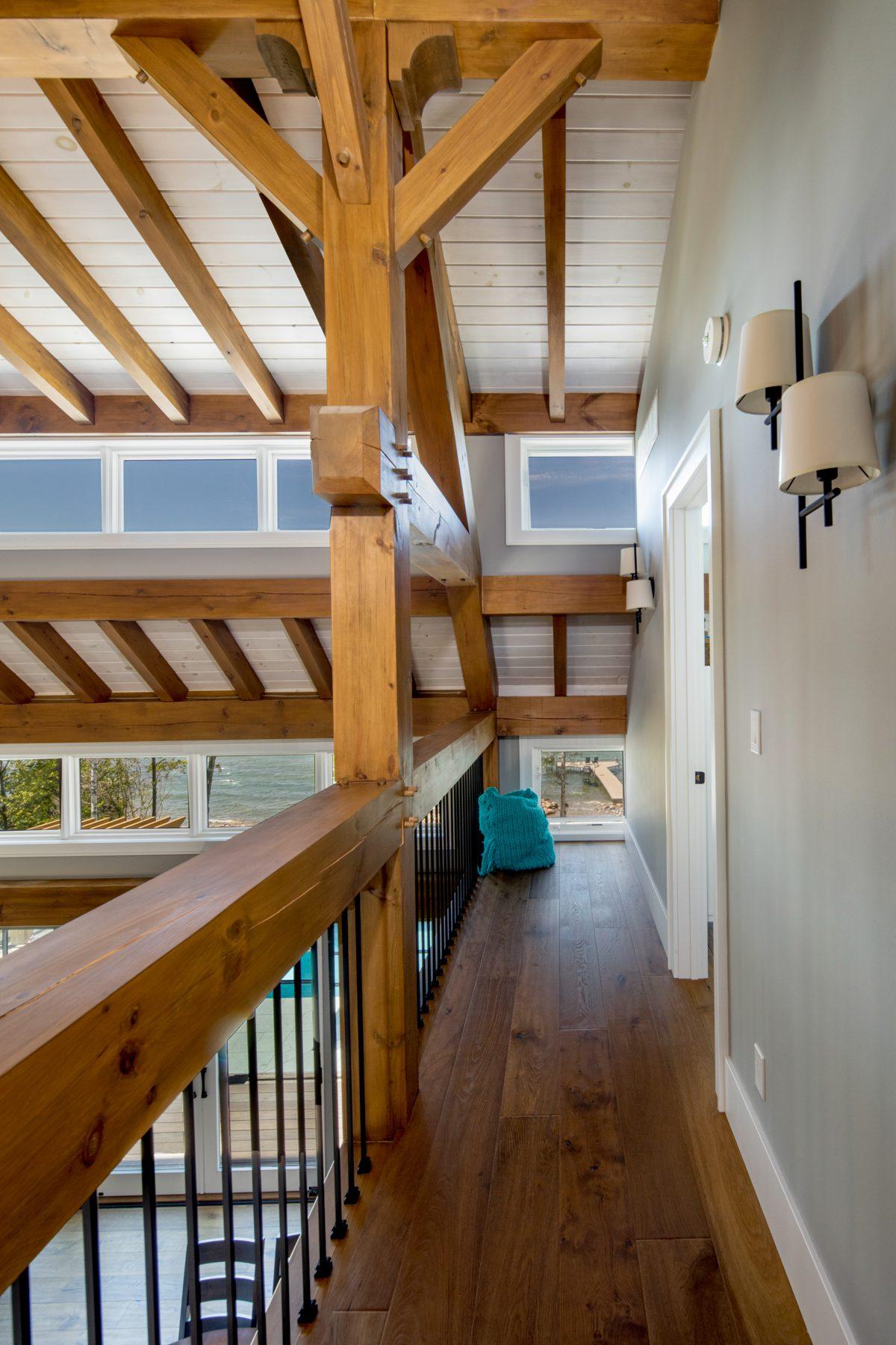 Normerica-Timber-Homes-Timber-Frame-Portfolio-Beachside-Bliss-Interior-Loft-Hallway