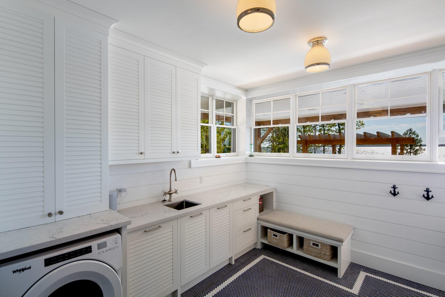 Normerica-Timber-Homes-Timber-Frame-Portfolio-Beachside-Bliss-Interior-Pool-Room-Basement-Laundry-Room