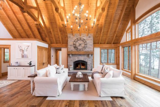Cozy Lakefront Cottage - Luxury and Warmth   Normerica Timber Frame